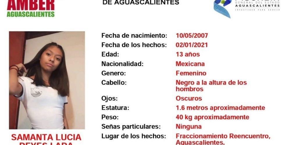 Localizan a adolescente extraviada en Aguascalientes