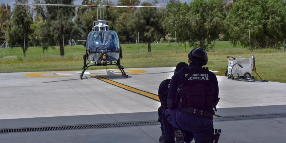 Helicóptero de la policía municipal cierra el 2020 con resultados positivos