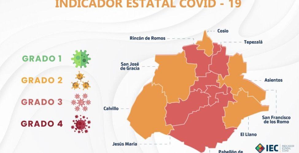 Colocan a 5 de 11 municipios en color naranja dentro del Indicador Estatal Covid-19
