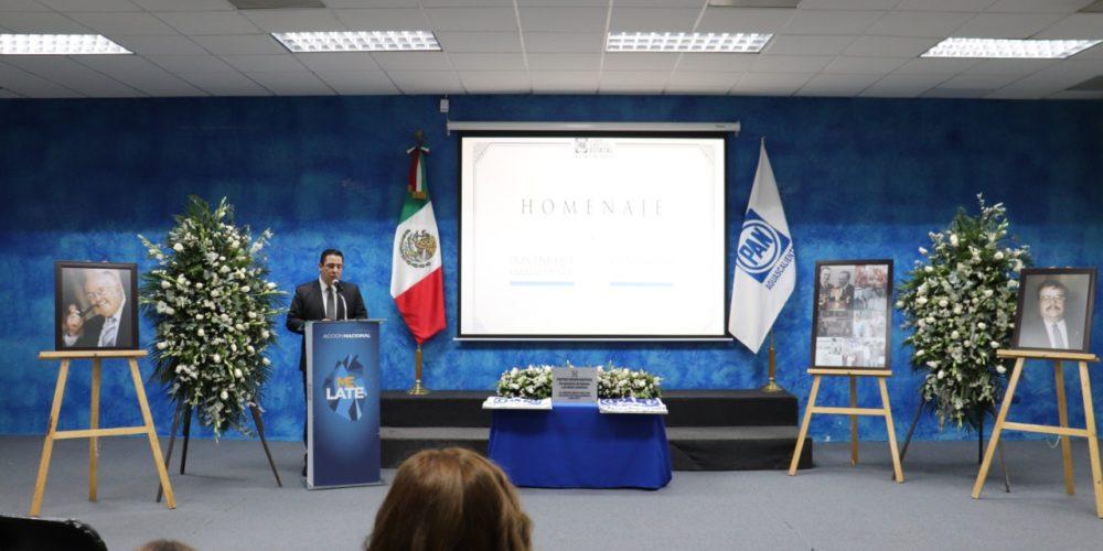 Realizan homenaje póstumo a líderes panistas en Aguascalientes