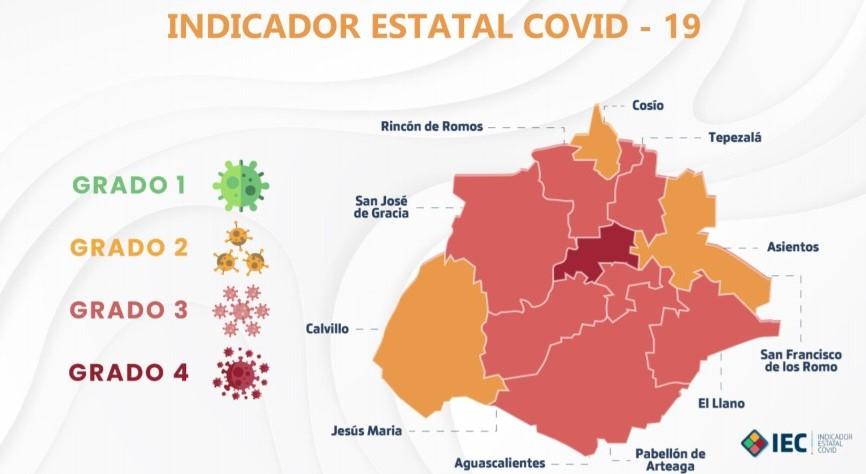 Tres municipios se mantienen en color naranja en el Indicador Estatal Covid