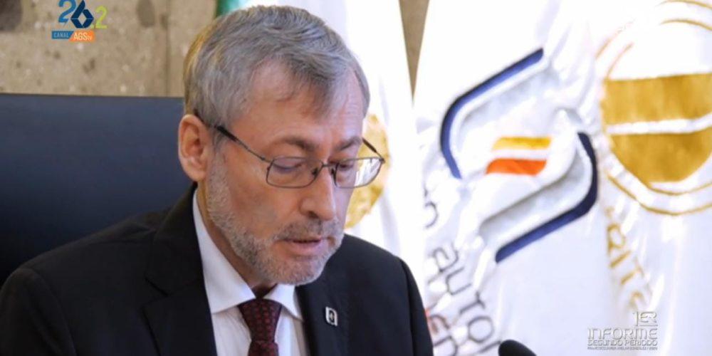 Presenta Avelar 1er informe de su segundo periodo como rector de la UAA