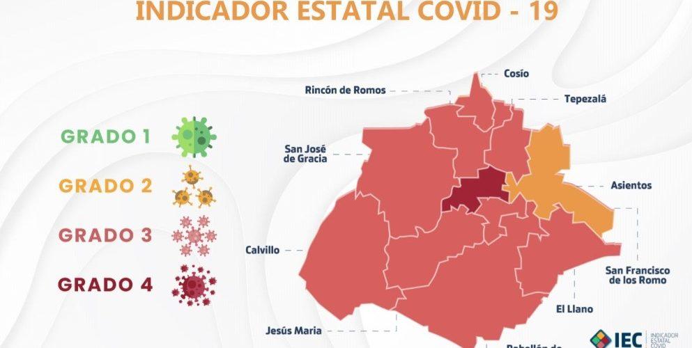 Vuelve alerta de contagios a municipios de Aguascalientes