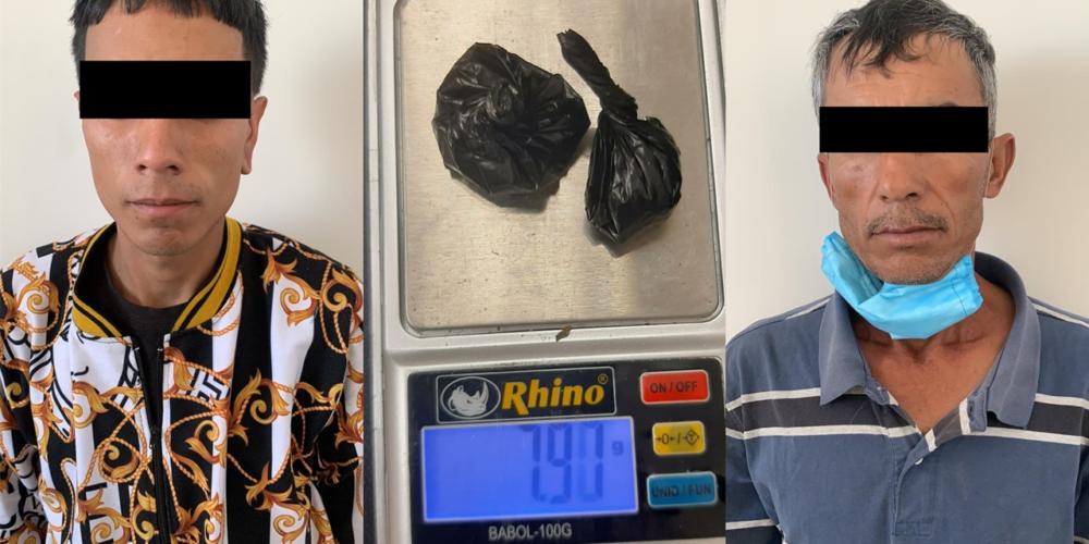 Los detuvieron en plena compra-venta de drogas en Pabellón