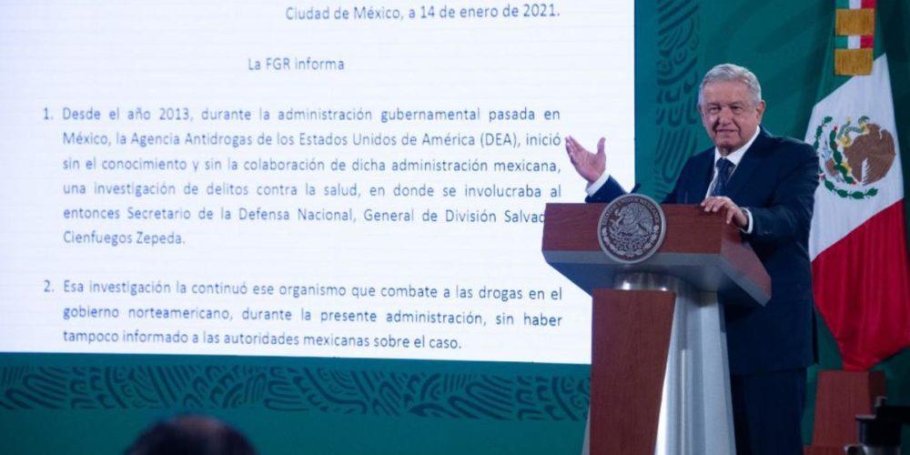 DEA fabricó acusación contra Cienfuegos: AMLO