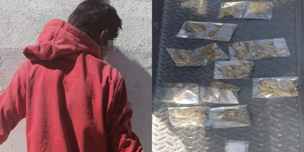 Aseguran a sujeto con 22 envoltorios de droga en Viñedos del Sur