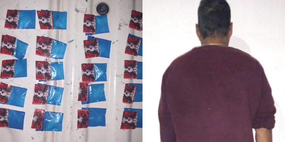 Capturan a Gerardo con 20 envoltorios de crystal en Aguascalientes