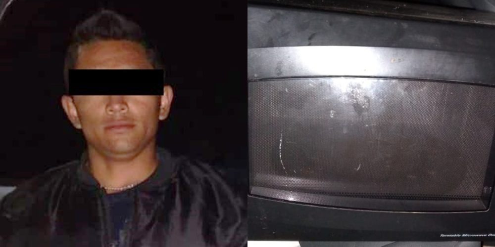 Lo cacharon con un microondas robado en Cosío