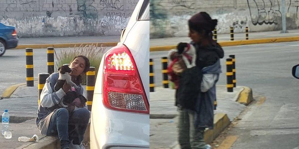 Denuncian a sujetos que drogan a perritos para pedir limosna en Puebla