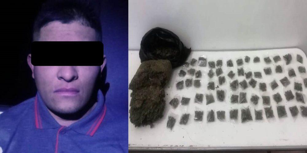 Cae sujeto con más de 4 kilos de marihuana en Aguascalientes