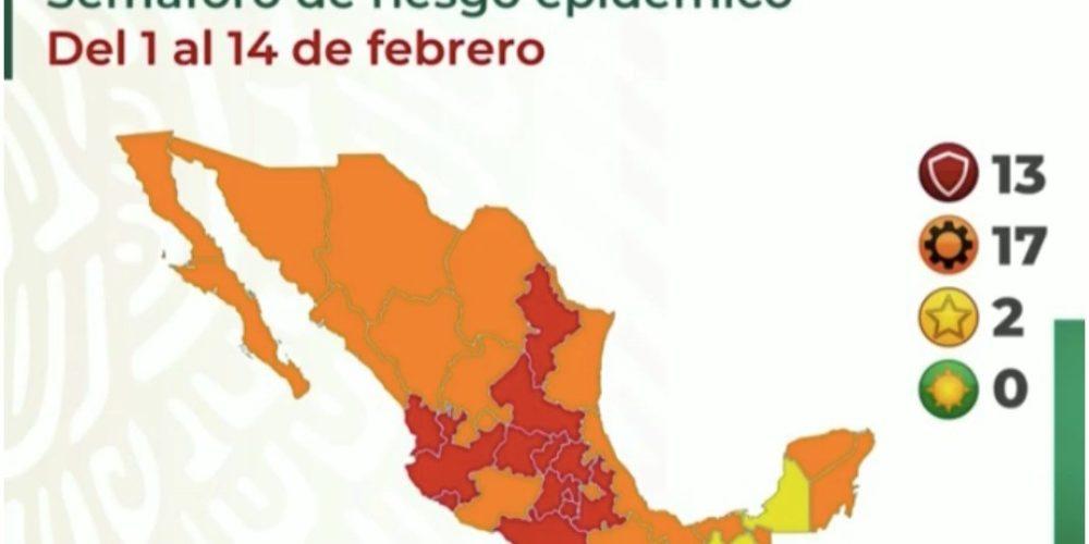Aguascalientes permanece en semáforo covid naranja, con riesgo de pasar a rojo