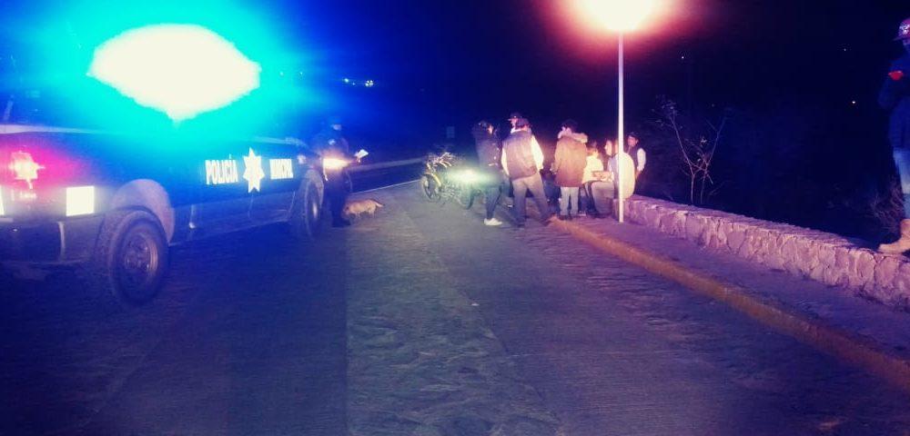 Caída de motocicleta deja saldo de 5 lesionados