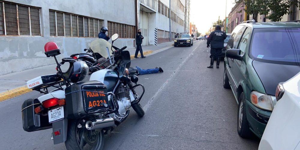Murió el motociclista que sufrió una caída en el centro de Aguascalientes