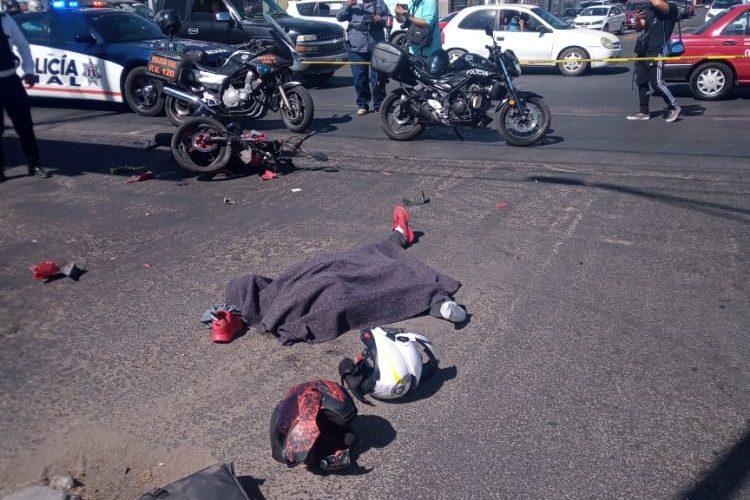 Motociclista chocó, se dio a la fuga y en el siguiente semáforo se mató en Convención