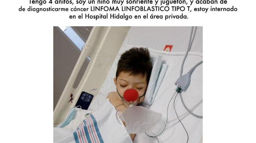 Se solicita sangre urgente  para el niño Bastián Razo