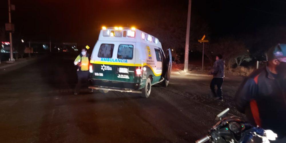 Choque entre motocicleta y camioneta deja dos lesionados en Jesús María