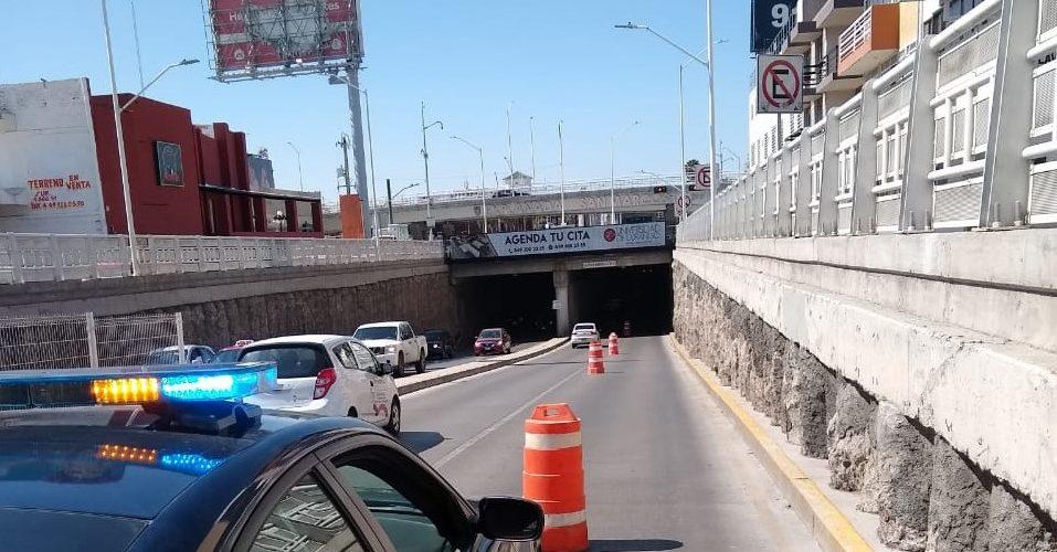 AVISO VIAL: Cierran carril en desnivel de la Avenida Adolfo López Mateos
