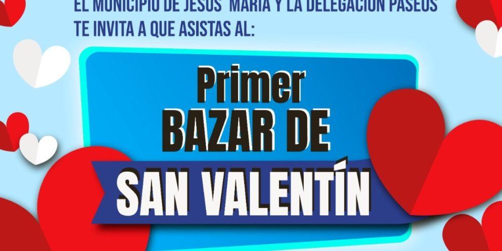 Invita Jesús María a asistir a primer bazar de San Valentín