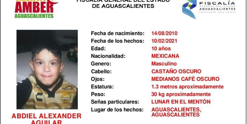 Buscan a niño de 10 años extraviado en Aguascalientes