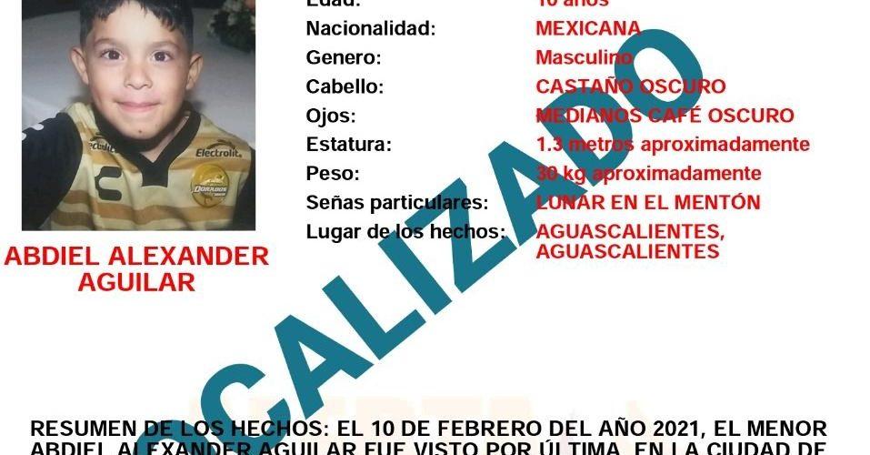 Localizan a niño extraviado en Aguascalientes. Estaba trabajando con albañiles.