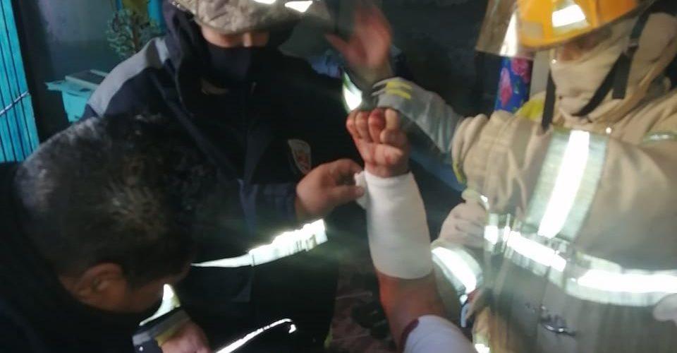 Incendio en un domicilio deja un lesionado en la colonia Talamantes Ponce