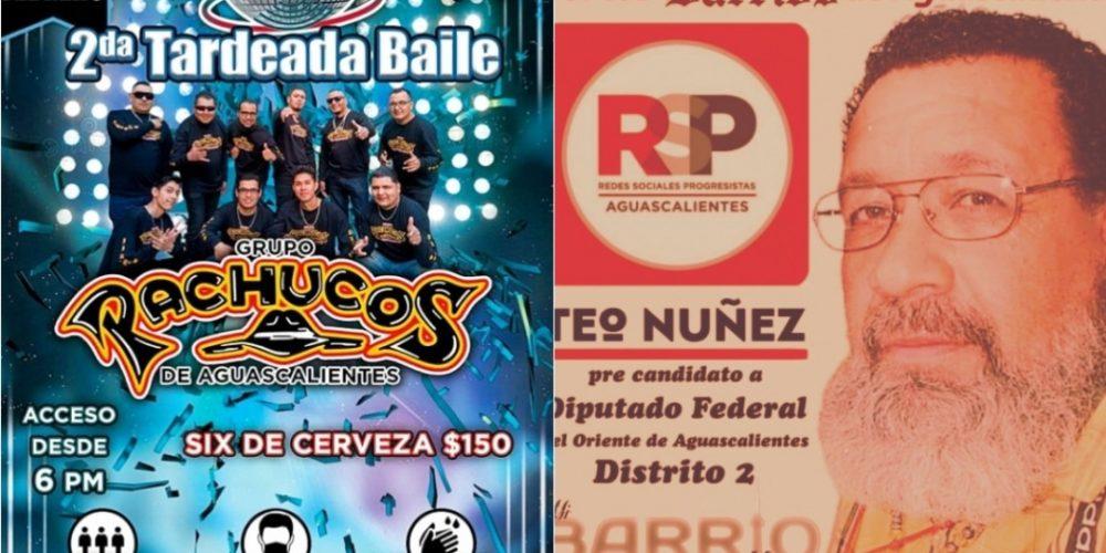 No le importa la salud a precandidato de RSP y convoca nuevo baile en Aguascalientes