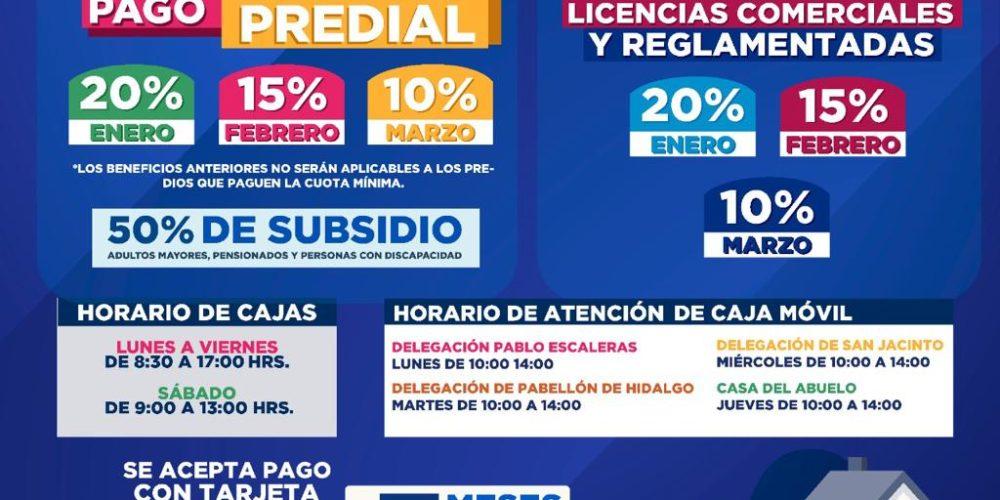 Buena respuesta por pagos de predial y licencias en Rincón de Romos