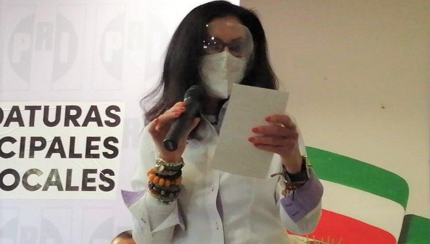 Blanca Rivera recibe constancia como candidata a la alcaldía de Aguascalientes por el PRI