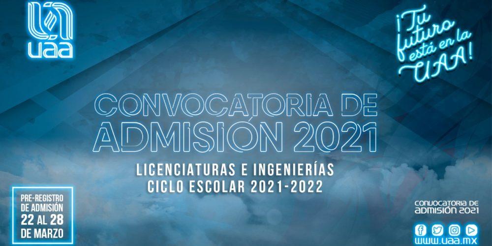 Abre UAA convocatoria de admisión a licenciaturas e ingenierías