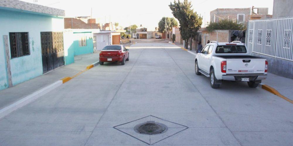 Rehabilitan calle La Luz, en Margaritas