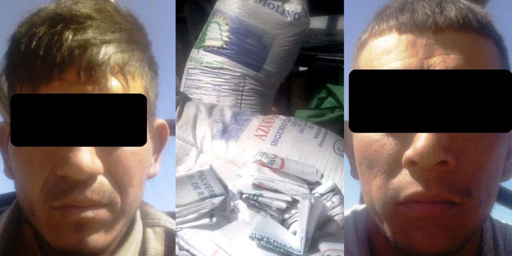Capturan a dos que robaron 4 costales del tren en San Pancho