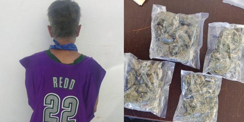 Detienen a quincuagenario con 40 gramos de marihuana en la colonia Las Hadas