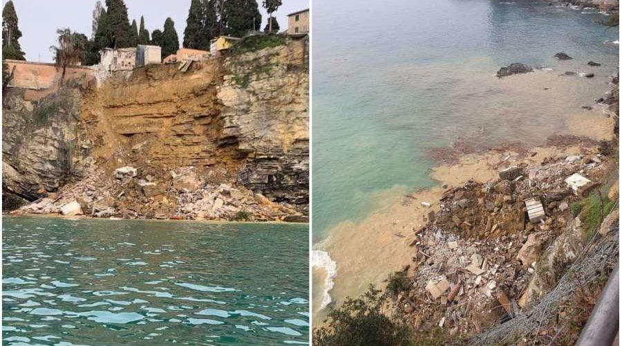 (VIDEO) Ataúdes terminan en el mar tras derrumbe de cementerio