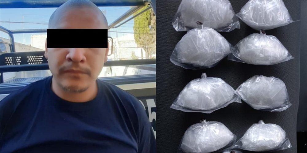 Capturan a distribuidor con 180 gramos de crystal en La Soledad