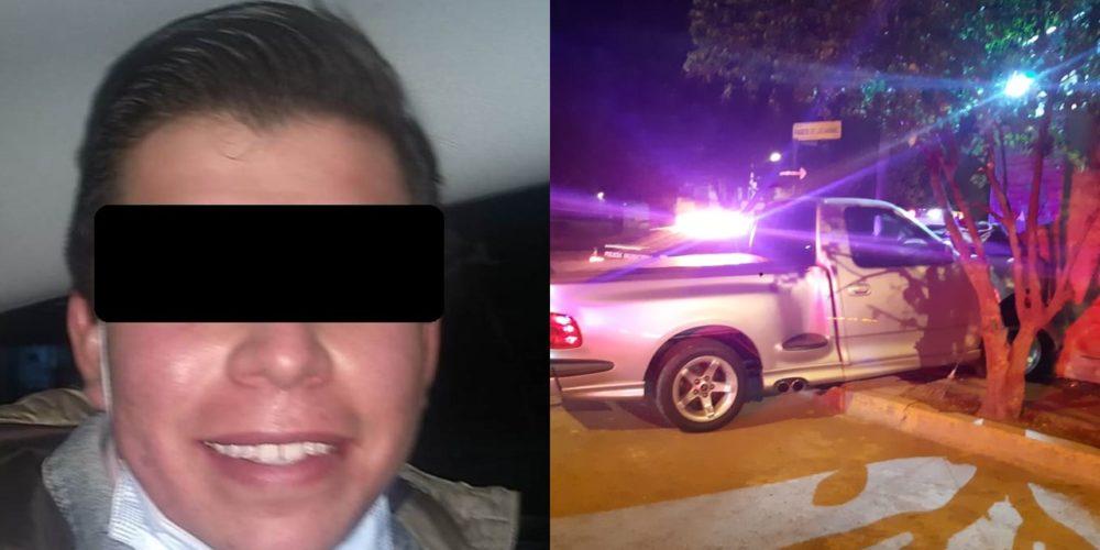 Estrelló su camioneta contra la fachada de una casa en Paseos de Aguascalientes