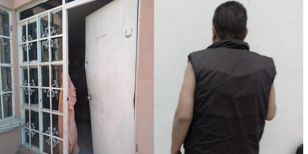 Detienen a sujeto que lesionó a su pareja y amenazó con incendiar su casa