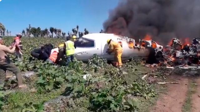 Mueren 6 militares en desplome de aeronave en Veracruz