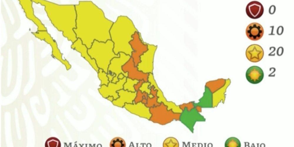 Aguascalientes pasa a semáforo Covid Amarillo