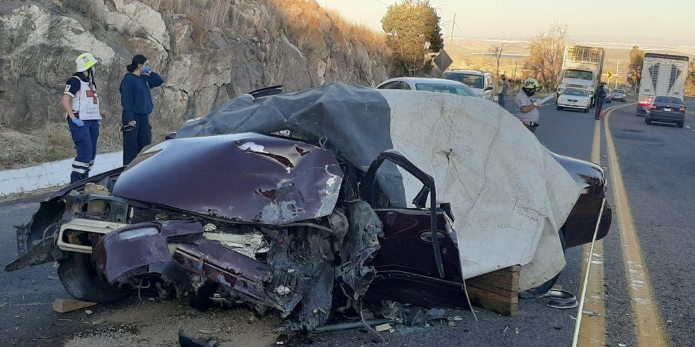 Fallece anciano tras accidente en carretera a Calvillo; su esposa resultó herida