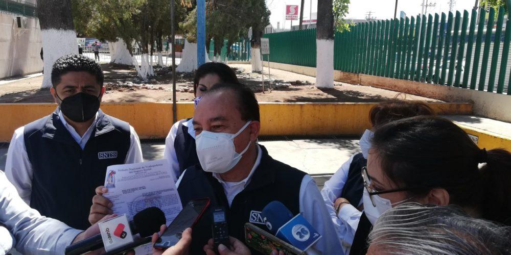 Demandan vacunas para personal sindicalizado del IMSS Aguascalientes