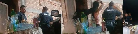 Denuncian a policías de Rincón de Romos en plena 'pachanga'
