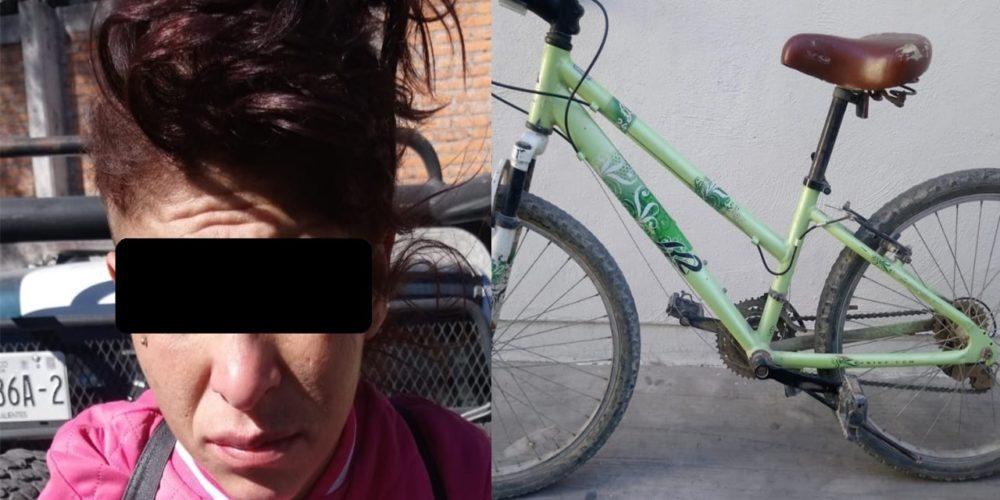 Detienen a mujer por robarse una bicicleta en Jesús María
