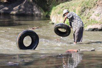 Municipio realiza labores de limpieza en el Río San Pedro
