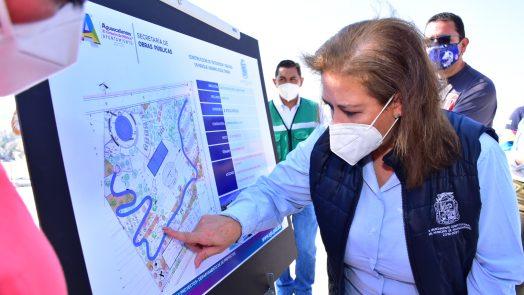 Supervisan avances de obras en espacios deportivos y recreativos del municipio de Aguascalientes