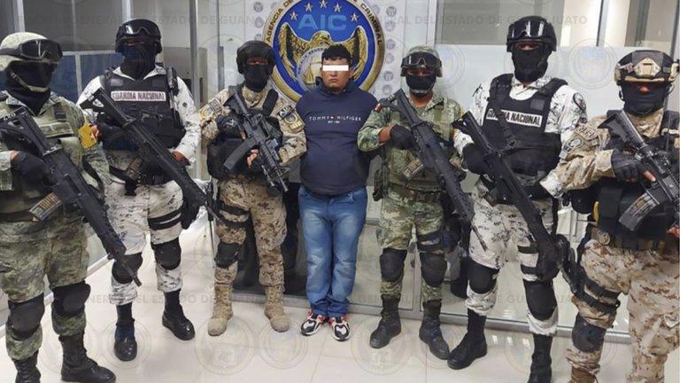 """Detienen a """"El Dalugas"""", presunto líder del Cártel de Santa Rosa de Lima en Guanajuato"""
