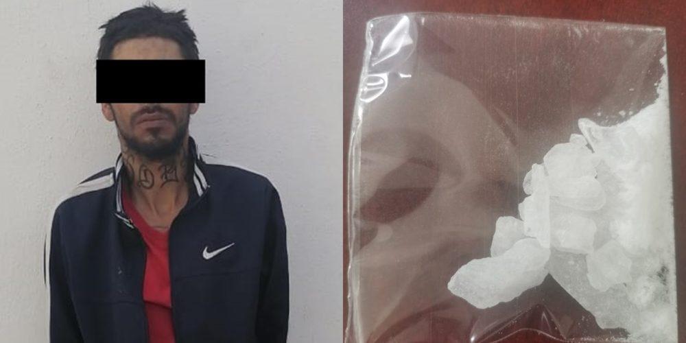 Aseguran a presunto distribuidor de drogas en el fraccionamiento Constitución