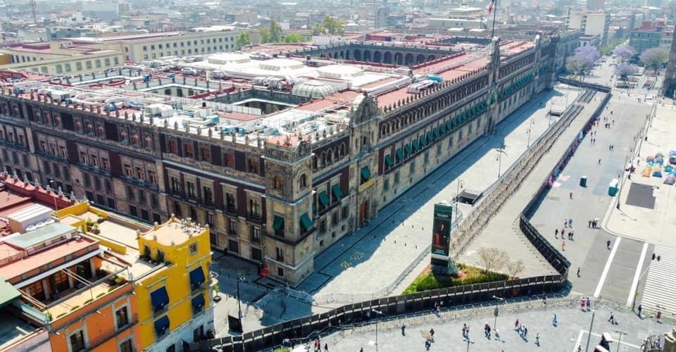 Blindan con vallas Palacio Nacional previo a marchas feministas