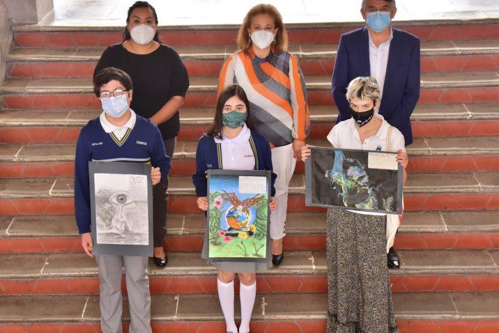 Municipio premia a ganadores del concurso de dibujo por el Día Mundial del Agua