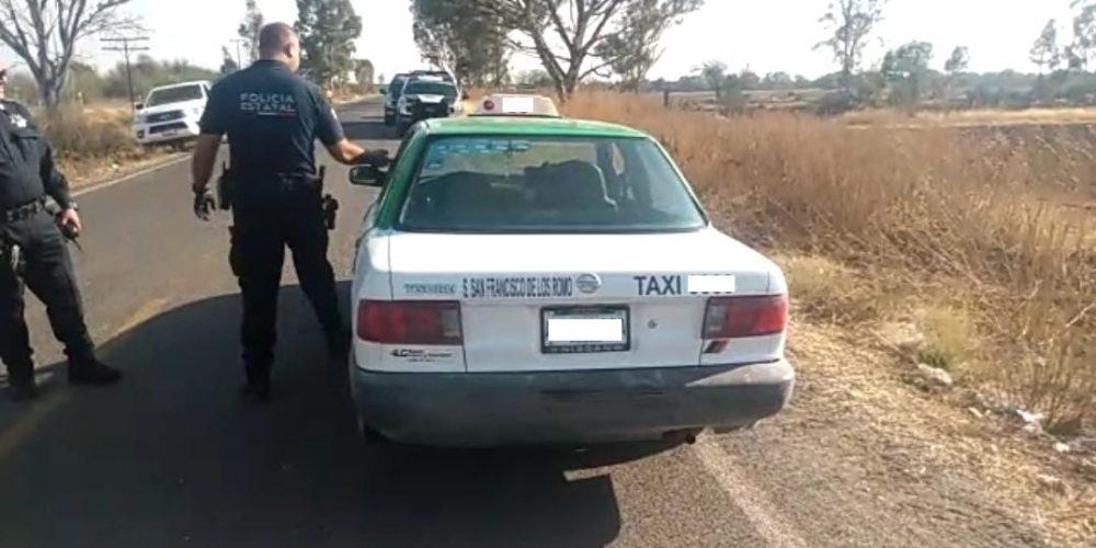 Localizan taxi robado en San Francisco de los Romo