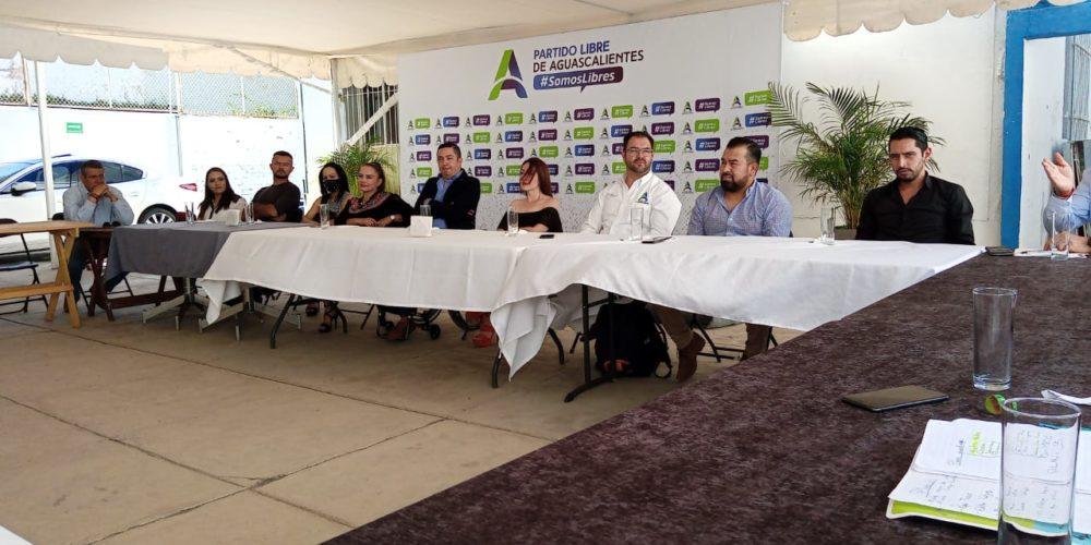 Registra Partido Libre de Aguascalientes a sus candidatos a diputados y alcaldes